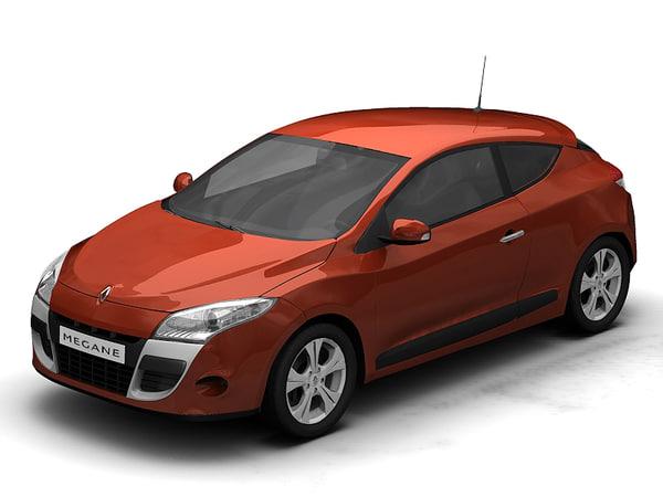 3d model renault coupe megane