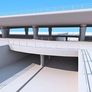 highway bridge 3d 3ds
