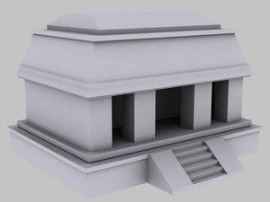 architecture aztecs 3d model