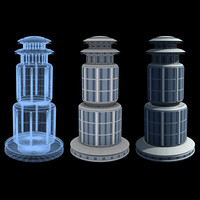 3d model super skyscraper futuristic building