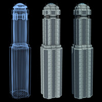 super skyscraper futuristic building 3d model