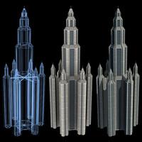 super skyscraper futuristic building 3d max