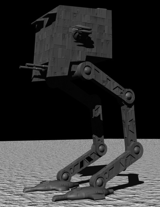 3ds max scout walker ik animation