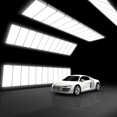 car showroom 3d 3ds
