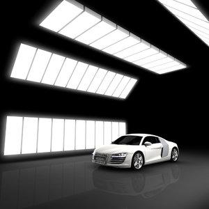 car showroom 3d 3ds