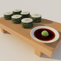 sushi 3d model
