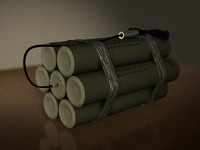 tnt explosive device 3d model