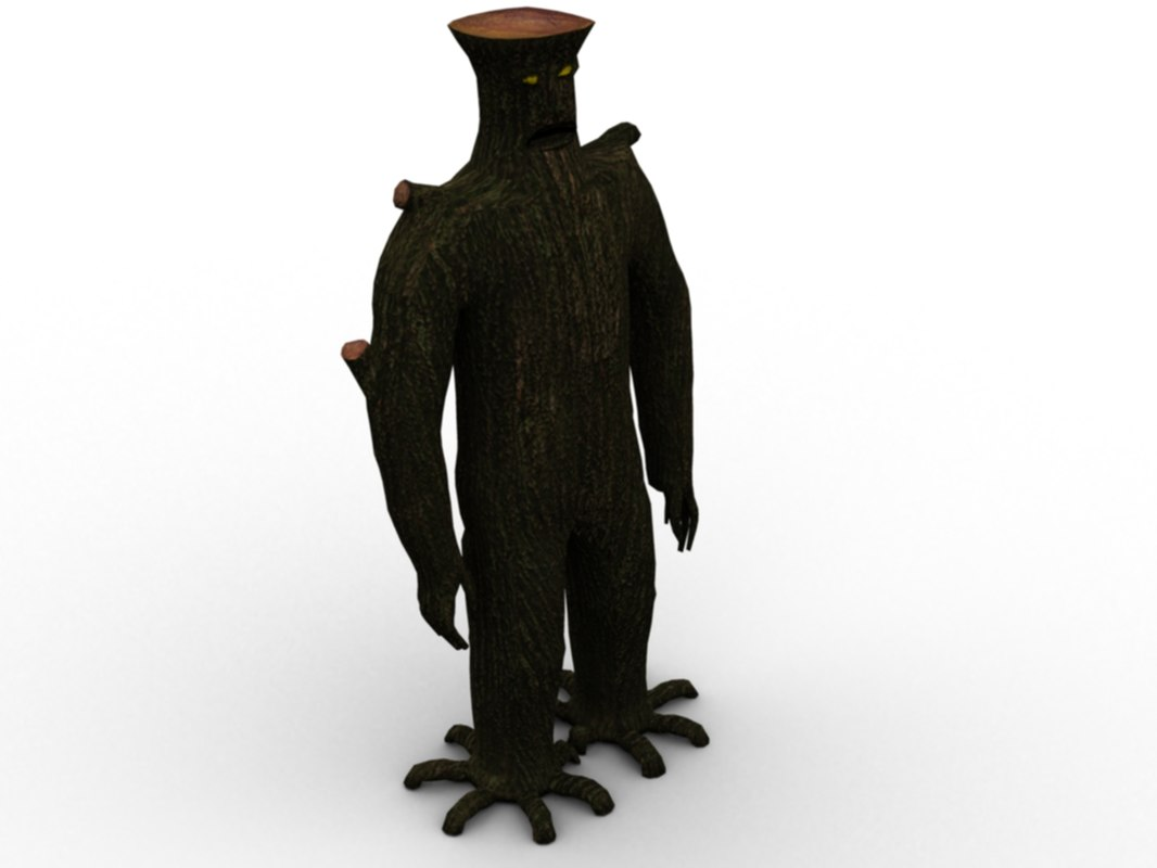 3d model tree monster