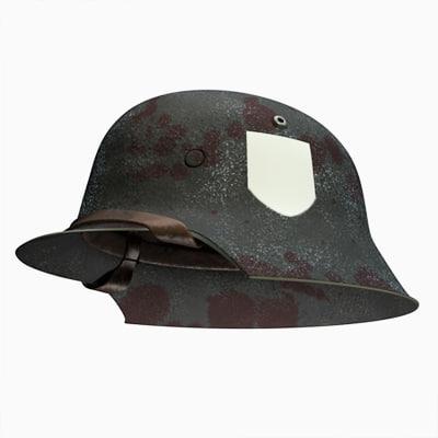 helmet german ww2 3d model