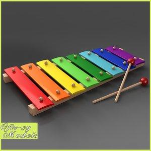 3d model xylophone