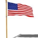 Loopable Animated USA Flag