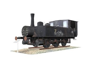 old steam engine 3d max