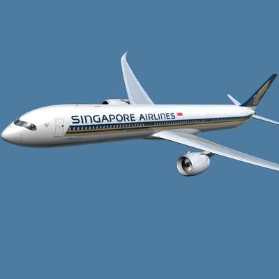 a350-1000 singapore 3d max