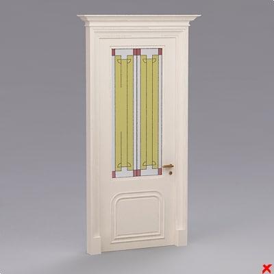 3d glass door