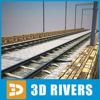 max arched stone bridge trains