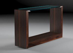 macassar console table 3d model