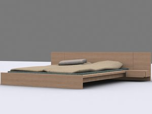 3ds max pillow 1 bed