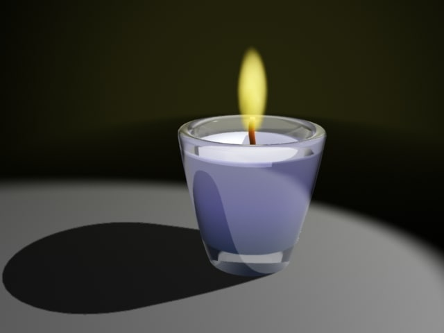 3d candle glass