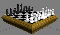 3d 3ds chess set