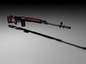 dragunov rifle 3d model