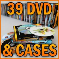 39 dvd cases disks 3d model