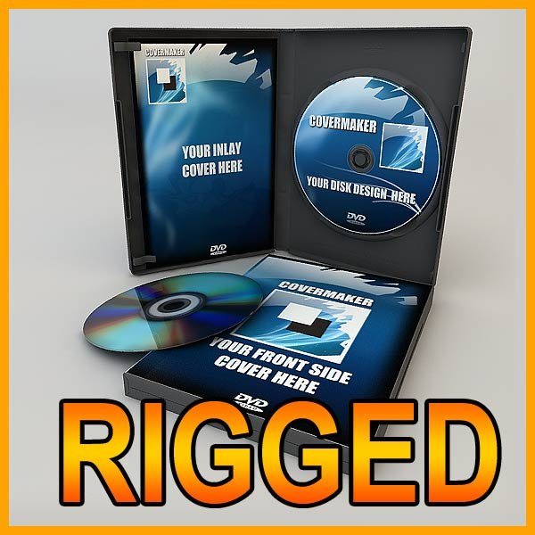 dvd case disk 3d model