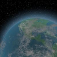 3d model of planet earth cloud