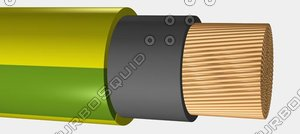 earthing cable 150mm² 3d max