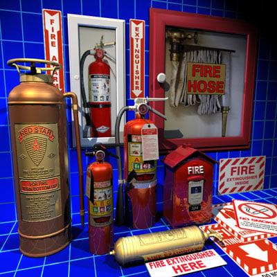 3dsmax extinguisher 01 flame