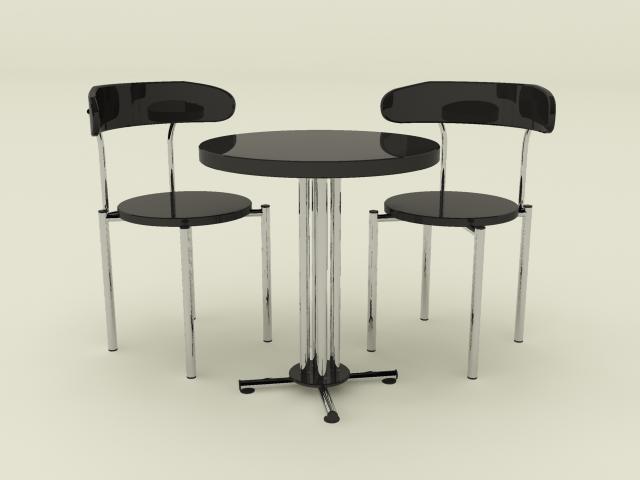 maya chrome table chair set