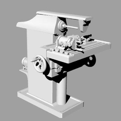 milling machine 3d 3ds