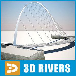 3ds max gateshead millennium bridge