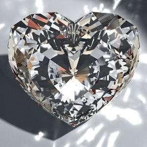heart gemstone diamonds 3d model