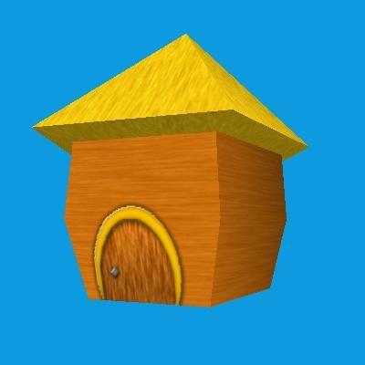 small cartoony hut 3d obj