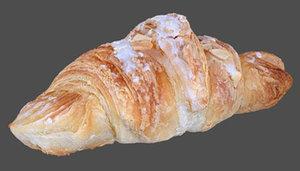 french croissant 3d obj