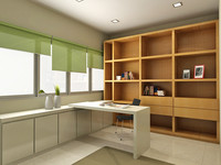 3d study room design