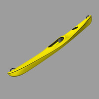 3d model kayak paddle