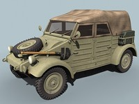 3d model wwii german kubelwagen closed