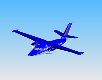 aircraft let l-410 3d ige