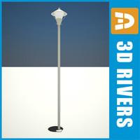 retro street lamp light 3d 3ds