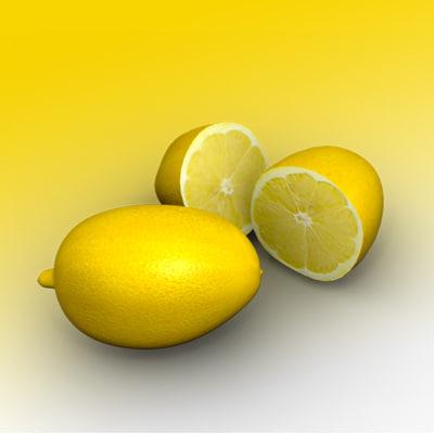 3d simple lemon