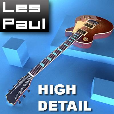 3d gibson lespaul style guitar