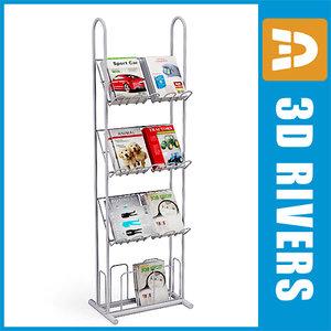 3d magazine rack model