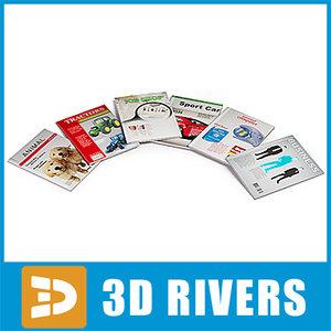 3d magazines supermarket interior model