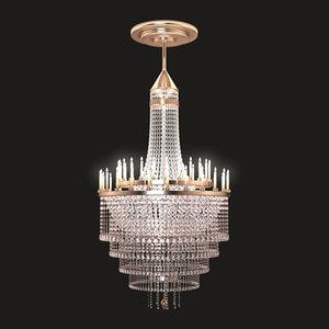 3d elegant chandelier model