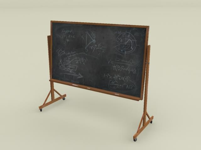3ds max chalk board wheels chalkboard
