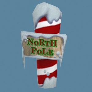 3d north pole xmas