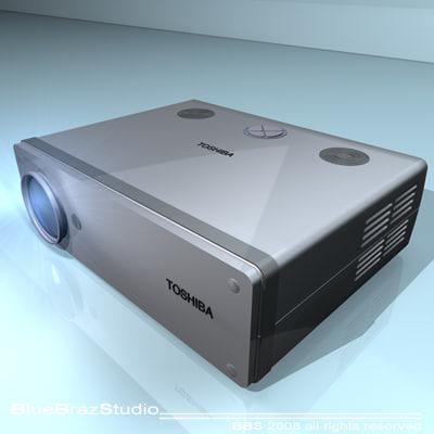 projector player 3d c4d