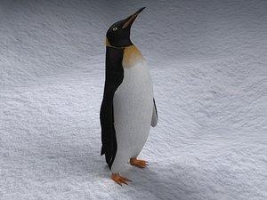 rigged penguin 3d model