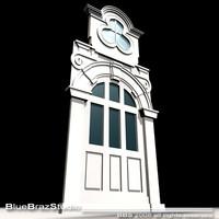 old style portal 3d model